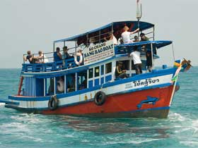 Bang Bao Boat Wooden-Boat for transfers from Koh Chang to Koh Kood