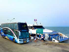 Boonsiri Catamaran and Bus for transfers from Koh Kood to Trat Airport