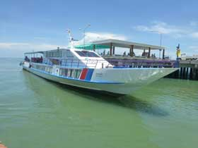 Koh Kood Express Fast-Ferry for transfers from Koh Kood to Trat