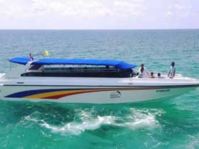 Koh Kood Express Speedboat for fast transfers between Koh Kood, Laem Sok and Trat