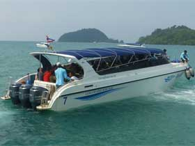 Leelawadee Speedboat for transfers between Koh Mak and Laem Ngop
