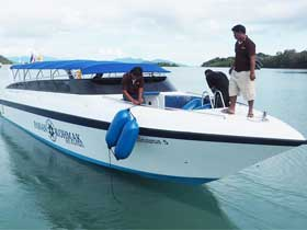 Panan Speedboat for transfers between Koh Mak and Laem Ngop