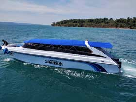 Suan Suk Speedboat for transfers between Koh Mak and Laem Ngop